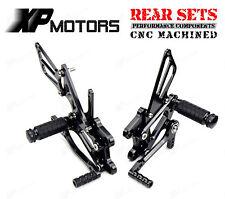 Noir CNC Rearset Foot pegs rest pour Suzuki GSXR600 2000-2005 SV650//SV650S