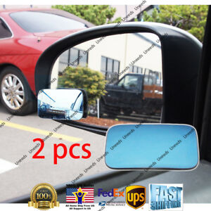 2PCS Blue Blind Spot Mirror Wide Angle Rear View Car Side Mirror for Subaru