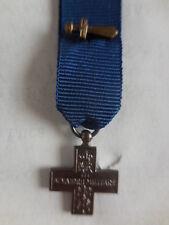 croce mignon con gladio ''al valore militare' modello 1943
