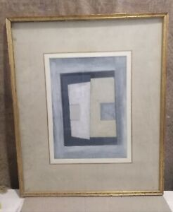 Oil Painting, C20th Abstract,  Signed on Reverse