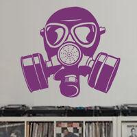 Sticker Décoration Masque à Gaz de Protection Sécurité, (20x22 cm à 30x33 cm)