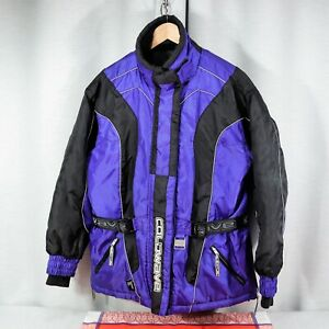 COLDWAVE Womens S Small Snowmobile SKI Motorcycle Jacket Coat BLUE Vented EUC