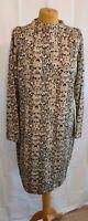 M&S Snakeskin/ Animal Print Knitted Tunic/Jumper Dress 18 Cozy oversized