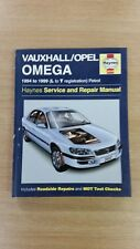 VAUXHALL OMEGA 1994-1999 Haynes Workshop Manual 3510 Bien Utilisé COND FREE p&p