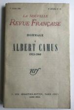 Albert Camus, Revue Francaise.