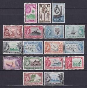 British Solomon Islands 1956, SG# 82-96, CV £100, Royal, MNH