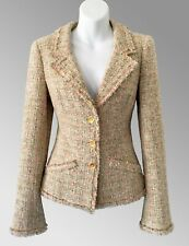 $4,460 CHANEL Multicolor Fringed Tweed JACKET *  FR 38 / US 4 6 ~ PERFECT