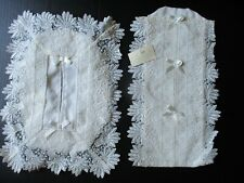 Nwt Lot Irish Lace Tissue box Cover & Lingerie Pockets From Quills Killarney