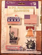 Set of 6 Patriotic Kitchen Refrigerator Magnets Statue of Liberty Liberty Bell