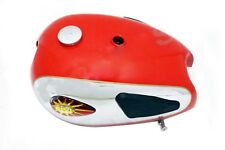 BSA A7 A10 Super Rocket Red Painted Chrome Fuel Tank With Knee Pad Cap & Tap CAD
