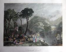 DARTMOUTH COVE  DEVONSHIRE   BY J M W TURNER  GENUINE ANTIQUE ENGRAVING  c1832