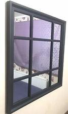 Black Window Soho Style Mirror Hallway Vanity Wall Elegant Vintage Style Gift