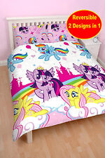 NEW MY LITTLE PONY EQUESTRIA DOUBLE DUVET QUILT COVER SET KIDS GIRLS BEDDING