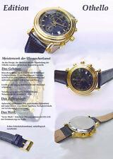 Othello Horloge Chronographe Hommes Bleu Azur SWISS mécanique horloge ETA G-10