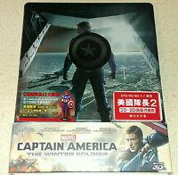 New Captain America: Winter Soldier 3D + 2D Blu-ray Hong Kong Steelbook OOP