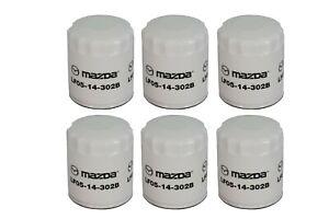 2001-2012 Mazda 3 5 6 MX-5 Miata CX-7 Oil Filter Set of (6) OEM NEW LF05-14-302B