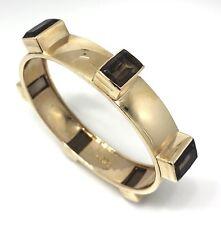 Vintage MACEFIELD Smoky Topaz Bangle Bracelet 14k Gold - HM1903