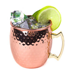 Handcrafted Solid Hammered Copper Moscow Mule Mugs 18oz Cocktails Iced Tea& Beer