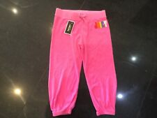 NWT Juicy Couture New & Genuine Girls Age 10 Pink Cotton Crop Leg Pants & Logo