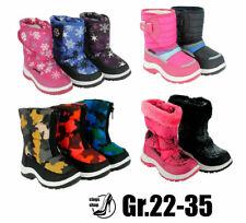 Mädchen Kinderstiefel Winterstiefeletten  Boots Stiefel  Schuhe 1411B0 Schwarz