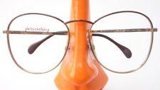 70er Jahre Brillen Fassung extragroß Eschenbach Damengestell gold braun Gr M