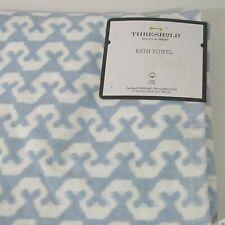 Threshold Lionheart Bath Towel Bath White Blue Printed 27 in x 52 in Cotton New