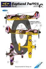 LF Models Decals 1/48 CAPTURED FOCKE WULF Fw-190A British Markings