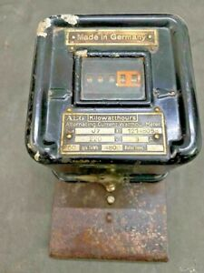 OLD VINTAGE RARE AEG KILOWATTHOURS ALTERNATING CURRENT ELECTRIC  METER, GERMANY