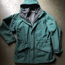 Men's Vintage The North Face TNF Gore-Tex Forrest Green Parka Hooded Jacket Sz S