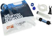 1Gal Bladder Water Filter System Purifier Hiking Emergency Camping Survival Kit