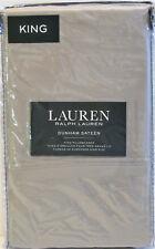 PR Ralph Lauren Cotton Dunham Sateen Pillowcases Dove Grey King - NEW