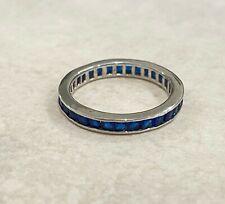 Rings - Sterling Silver - Cubic Zirconia - Saphire Blue - Australian Seller