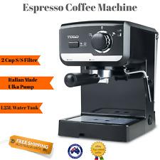 NEW Espresso Coffee Machine Latte Cappucino Maker Frother Easy Clean 1.25L tank