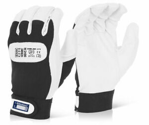 DRIVERS High Quality Leather VELCRO CUFF Gloves S - XL (Sold In Pairs)