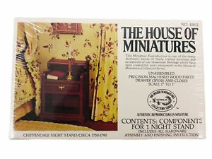 The House of Miniatures Chippendale Night Stand Kit #40012 Dollhouse Furniture