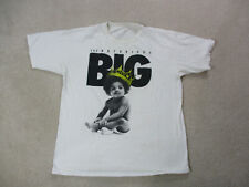 Notorious BIG Shirt Adult 2XL XXL White Black Biggie Smalls Rap Music Hip Hop *