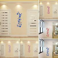 AU_ 3D Flower Wall Stickers Decals Vinyl Mural Art Home Room DIY Decor Removable