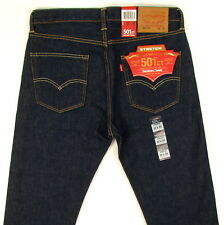 Levis 501 CT Tapered Fit Stretch Jeans SZ 32 x 34 DARK BLUE Button Fly Levi's