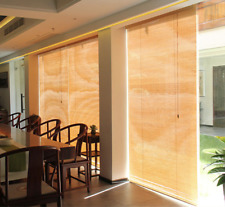 Traditional Bamboo Blinds Hanging Corded Office Window Sun Shade Curtain