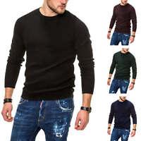 Jack & Jones Herren Strickpullover Sweater Herrenpullover Pulli Unifarben SALE %