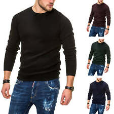 Jack & Jones Herren Strickpullover Basic Sweater Herrenpullover Pulli Unifarben