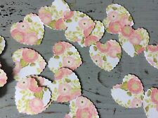 100 Pieces Of Heart Shaped Floral Vintage Style Paper Confetti Table Confetti