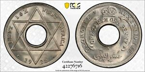 PCGS MS-67 BR. WEST AFRICA 1/10 PENNY 1928 -H (COMBINED NGC + PCGS TOP POP: 1/0)