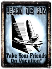 AIRPLANE metal SIGN model FLYING lessons training VINTAGE style fun decor 028