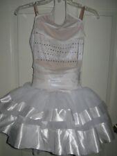Curtain Call ballerina white tutu costume Adult M AME rhinestones velvet dance