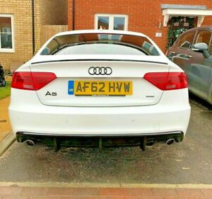 Audi A5 2 Door 8T3 Painted Gloss black S5 COUPLE  07-17 Boot Lip Spoiler Wing