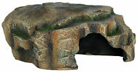 Flat Rock Fish Cave Aquarium Decoration Vivarium Reptile Basking Hide 16cm