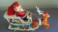 Vintage Santa Claus Sleigh Electronic Animated Musical Bumper N Go Toy Christmas