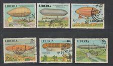 Liberia # 801-06 Used  Complete 1978 Zeppelin Set