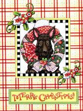 Mary Engelbreit-Merry Christmas Scottie Dog-Blank Note Card w/Envelope-New